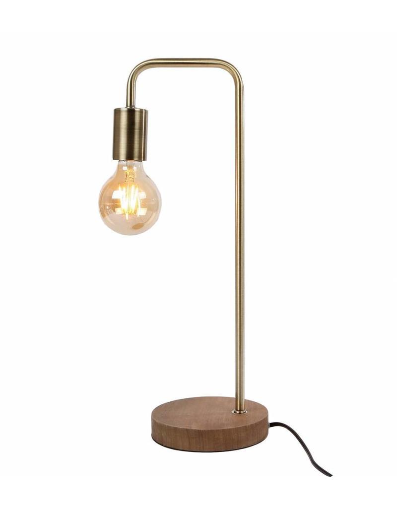 Uitzonderlijk Tafellamp hout/metaal/messing 24x16x47 cm - Stijl28 OW82