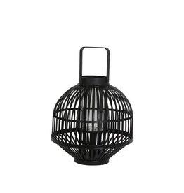 Light&Living Windlicht GOZO zwart met hendel hoogte 54 cm