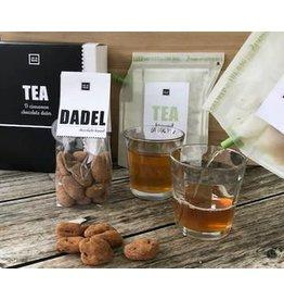 Liv 'n taste Teabrewer giftset incl. choco-kaneel dadels en 2 glazen