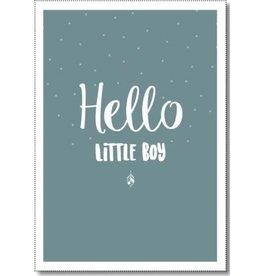 Miekinvorm Miekinvorm Ansichtkaart Hello Baby Boy
