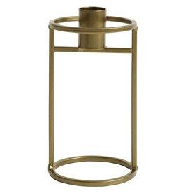 NORDAL Metal candleholder gold