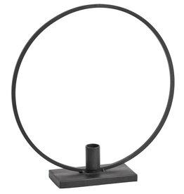 NORDAL Metal candle holder black