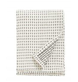 NORDAL 2 Stuks Tea towel. Off white/black
