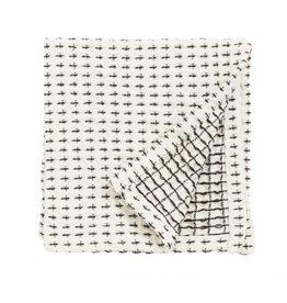 NORDAL Dish cloth. Off white/black