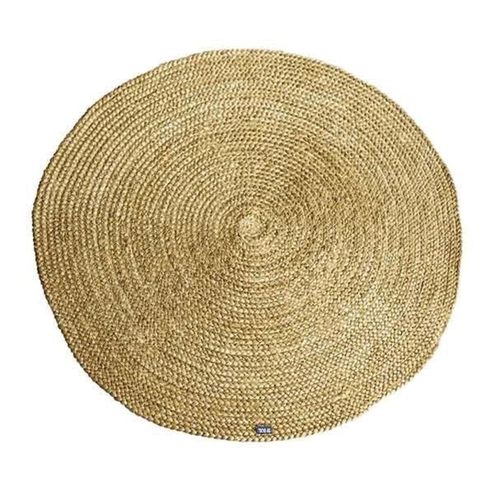 By Boo Carpet Jute round 120x120 cm - yellow