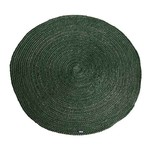 By Boo Carpet Jute round 120x120 cm - green