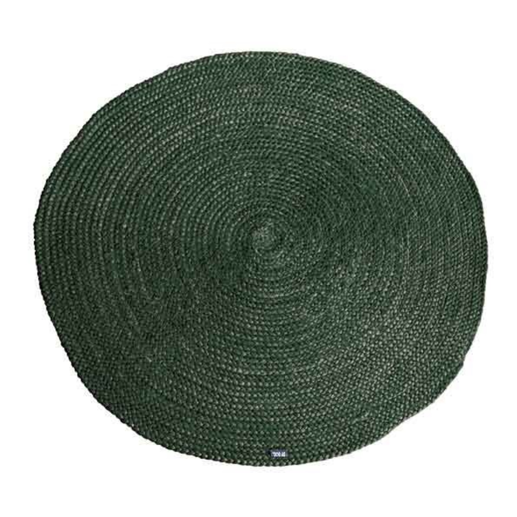 By Boo Carpet Jute round 120x120 cm - green
