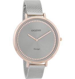Oozoo Oozoo Horloge Rose Silver
