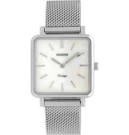 Oozoo Oozoo Horloge White Silver