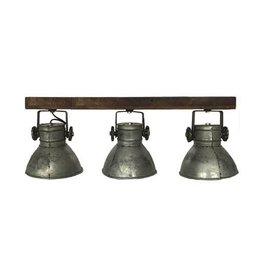 By Mooss Lamp Metaal/Wood 3 Spot