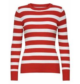 Jacqueline de Yong (JDY) JDY Trui Jdyaspen Treats Stripe Knit Fiery Red
