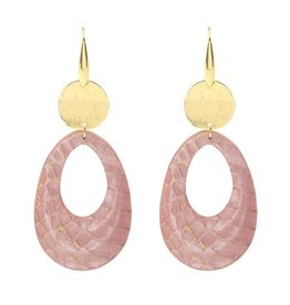 My Jewellery My Jewellery Oorbellen Roze Leren