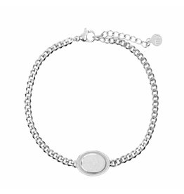 My Jewellery My Jewellery Armbandje Zilver Ovaal Roos