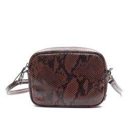 Zebra Trends Zebra Natural Bag Kartel Nova Snake Brown