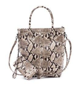 Zebra Trends Zebra Natural Bag Kartel Rits Snake White