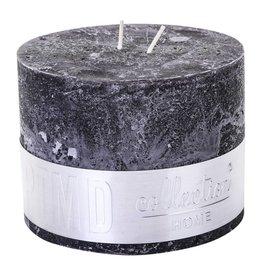 PTMD PTMD Rustic Charcoal Black Block Candle 9x12cm EAN NOG TOEVOEGEN