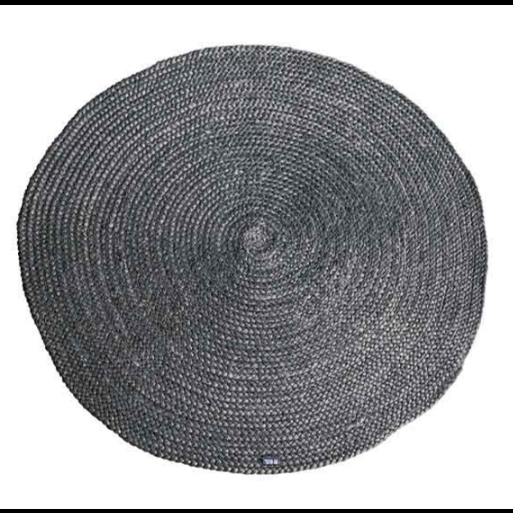 By Boo Carpet Jute round 120x120 cm - grey