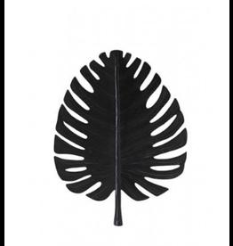 Light&Living Wandornament Leaf Zwart 31x40cm