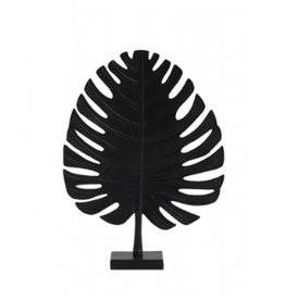 Light&Living Ornament Leaf Zwart 30x8x42cm