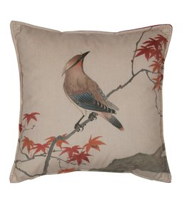 Be Pure Home Be Pure Home Waxwing kussen fluweel print 45cm