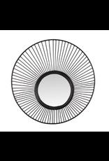 Spiegel metaal M dia40,5x9cm zwart