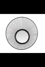 Spiegel metaal L dia52x9cm zwart