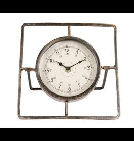 Klok Metaal Tafelmodel 24cm