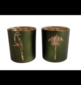 Sfeerlicht Palmboom/Papegaai 7x8cm Assorti