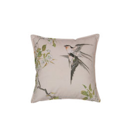 Be Pure Home Be Pure Home Swallow kussen fluweel print 45x45cm