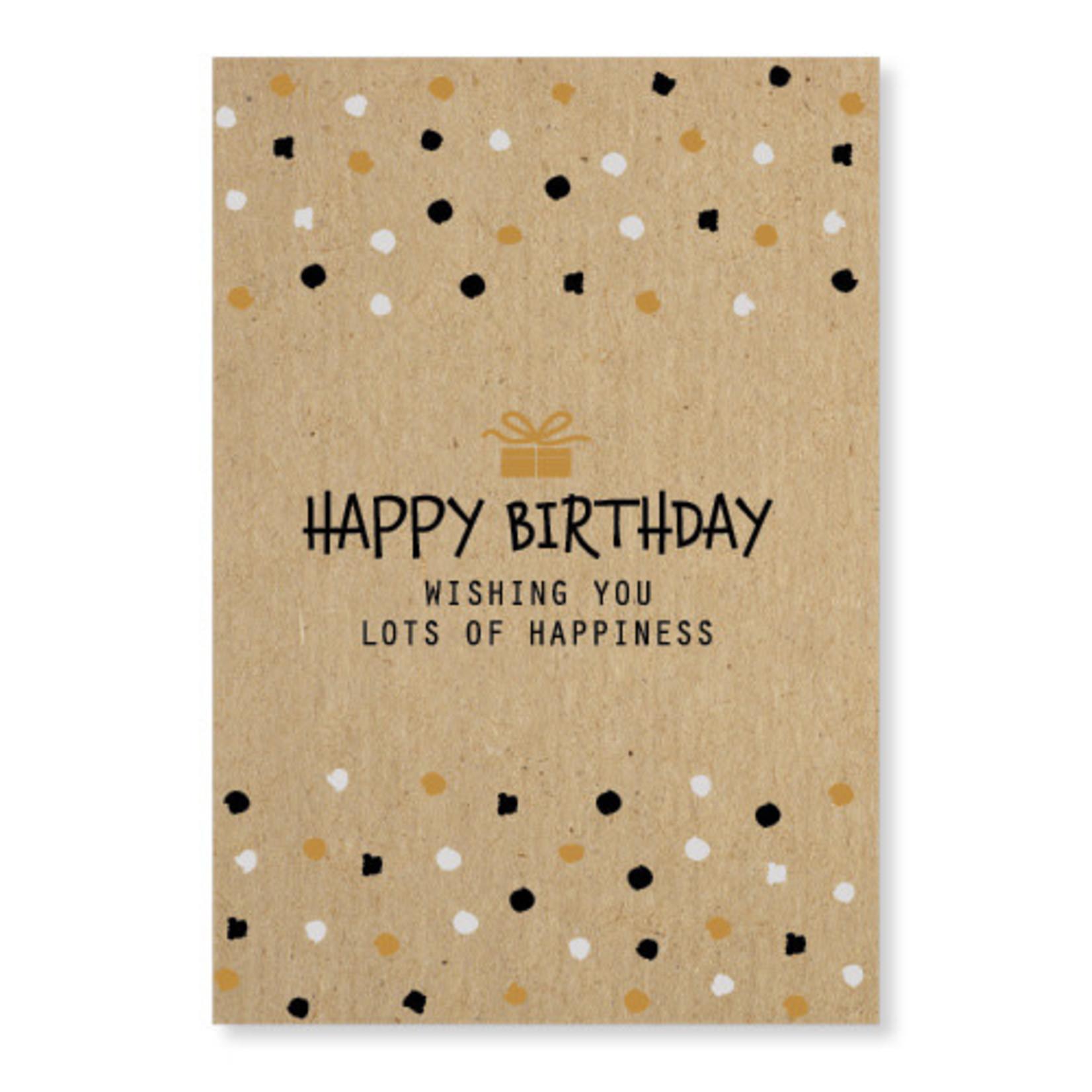 Jots Jots Wenskaart Happy Birthday A5