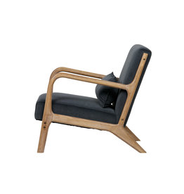 Woood Woood Mark fauteuil fluweel antraciet