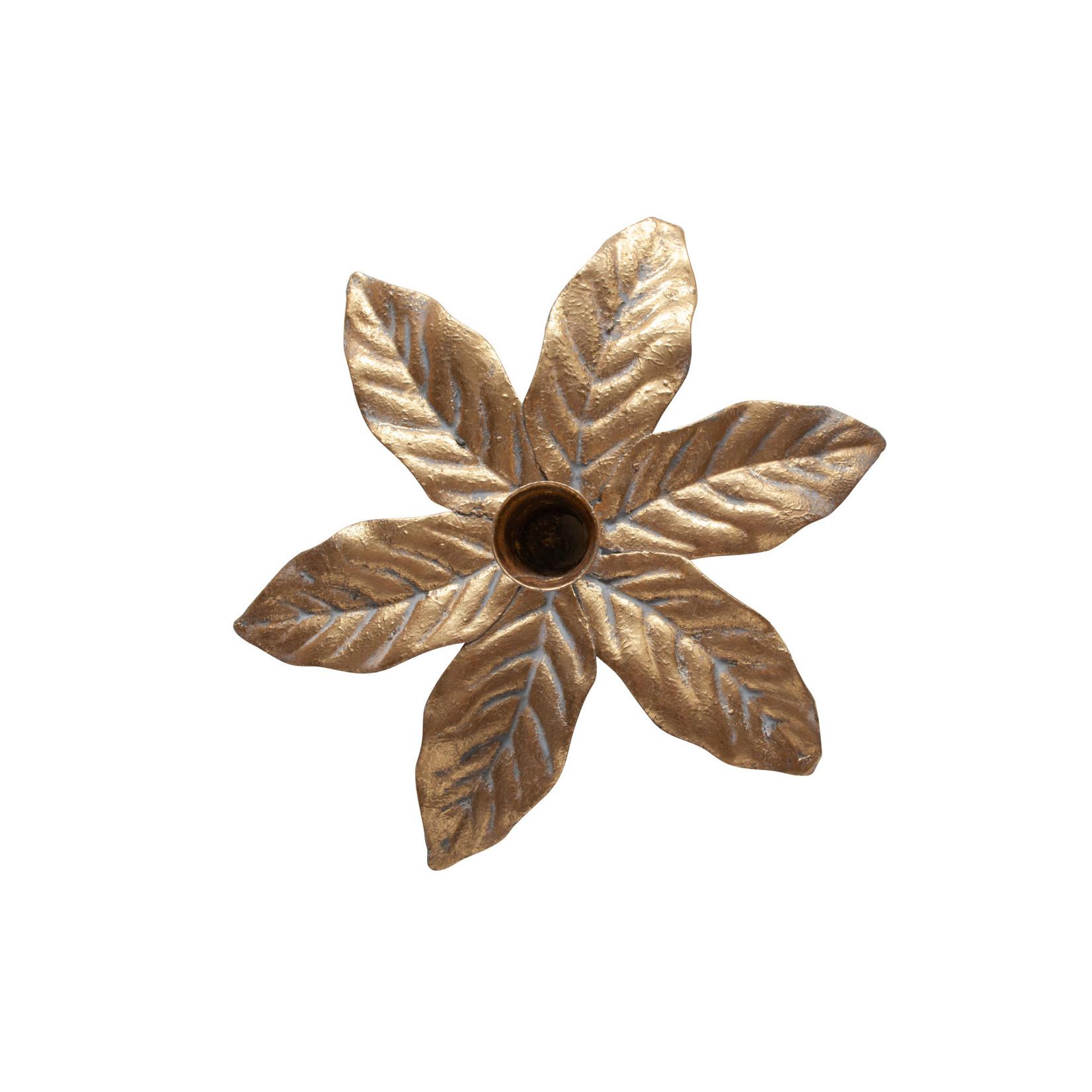 Be Pure Home Fizz Kandelaar 8cm Metaal Antique Brass*