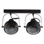 Woood Lester Plafondlamp Metaal Zwart 2 Lampen*