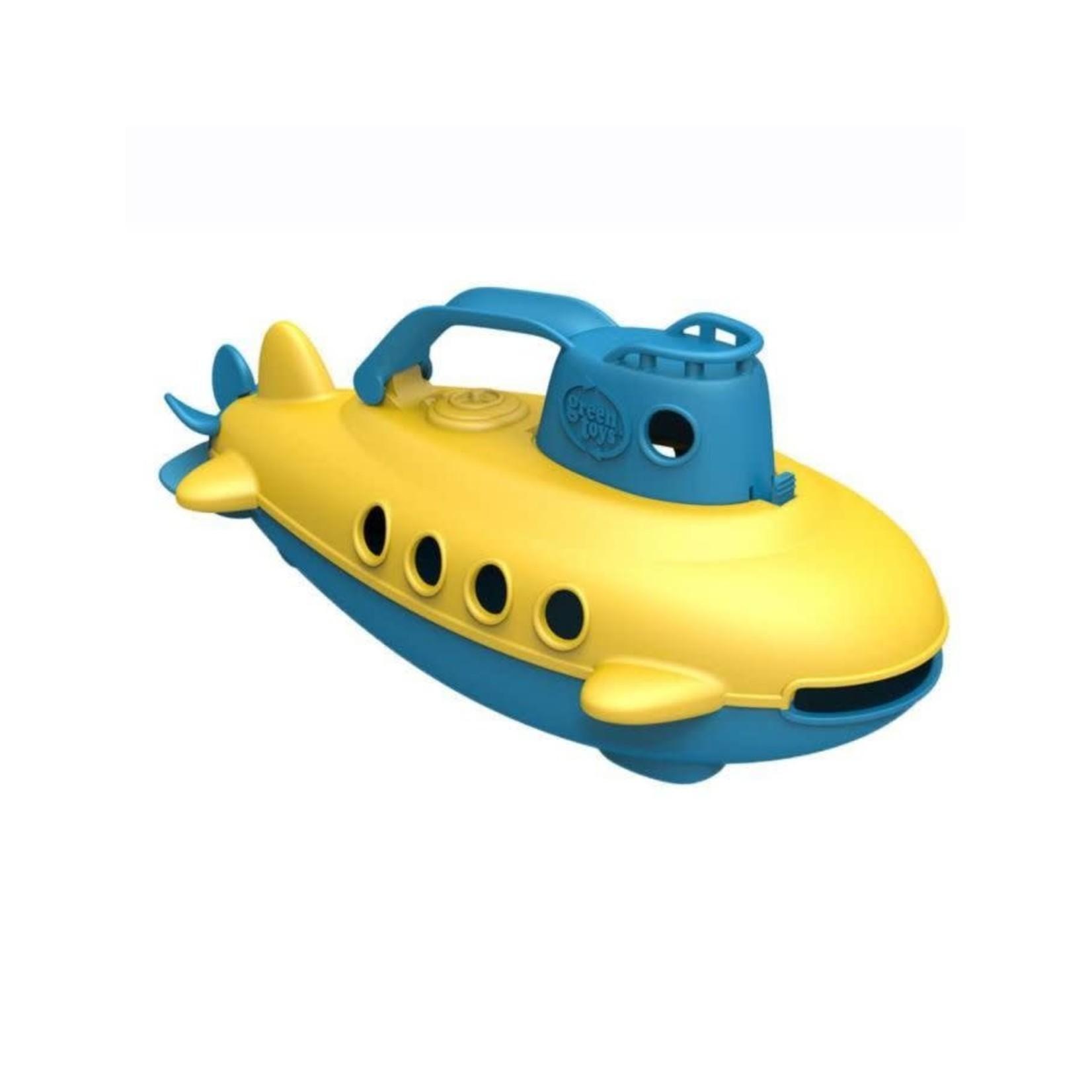 Green Toys Duikboot - Geel met blauwe handgreep