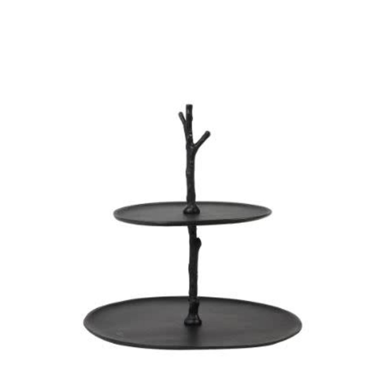 Light & Living Etagere 2 layer 30.5x27.5x31 cm TRESA mat zwart