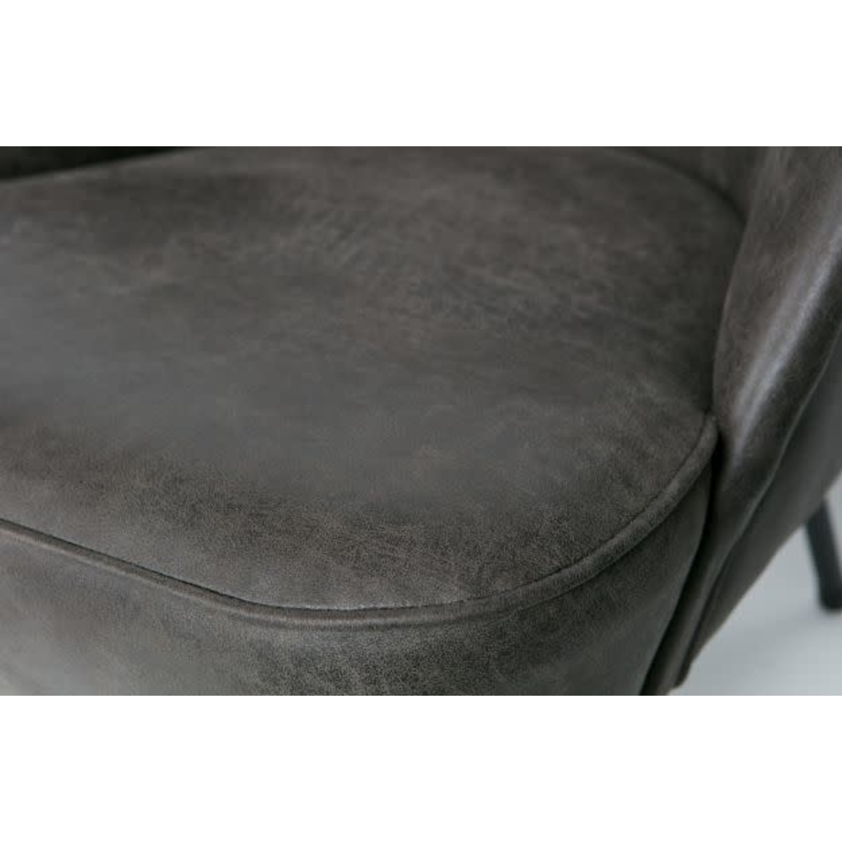 Be Pure Home Vogue Fauteuil Leer Zwart