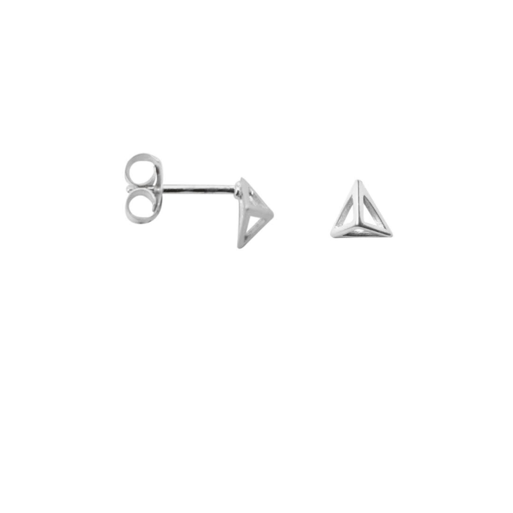 label Kiki Pyramid earrings Silver
