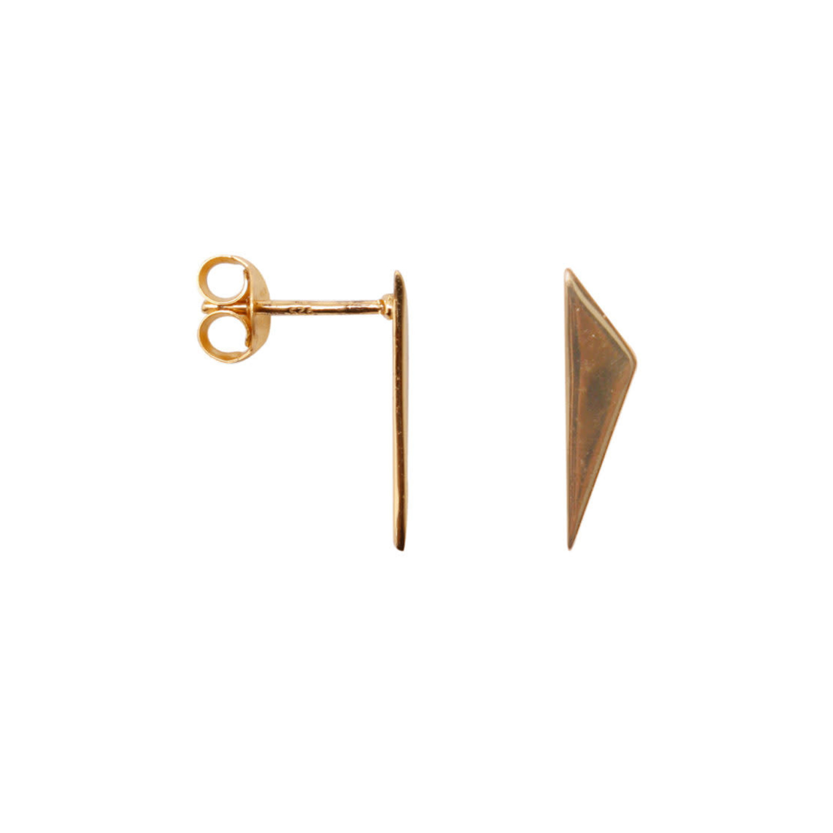 label Kiki Point triangle earrings Gold