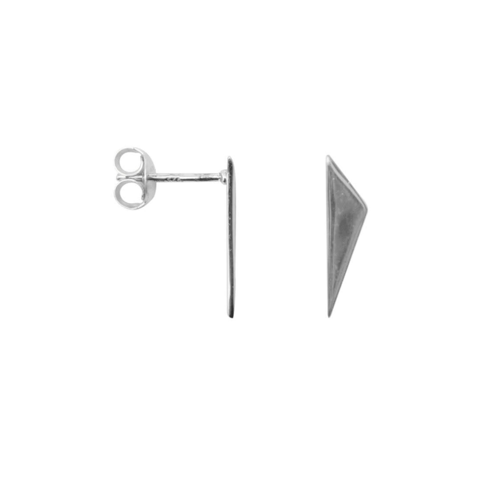 label Kiki Point triangle earrings Silver