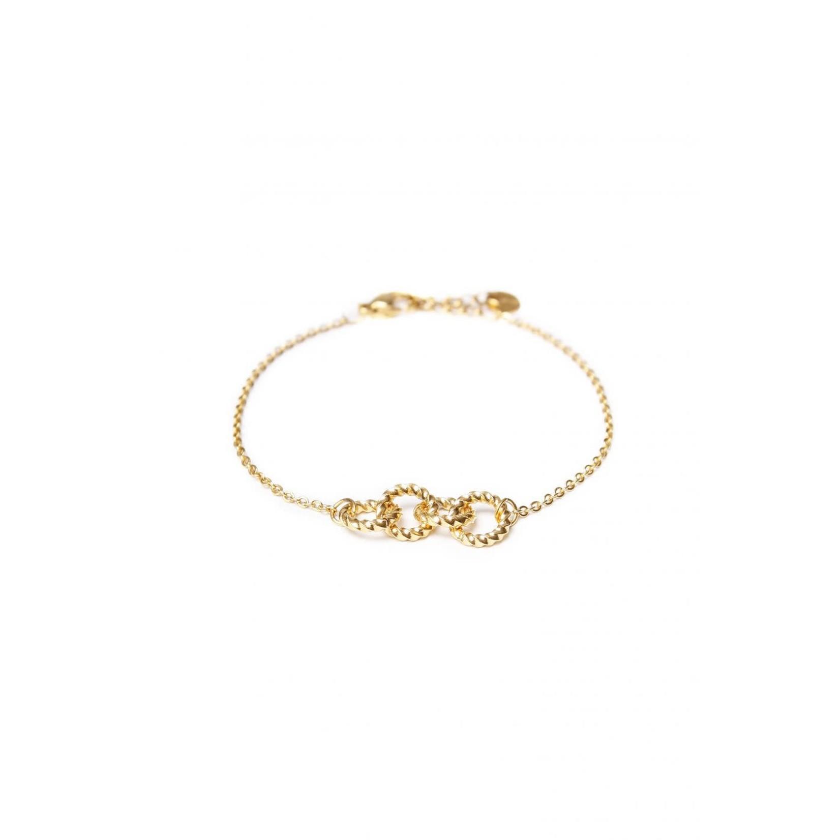 label Kiki Twisted Round Bracelet Gold