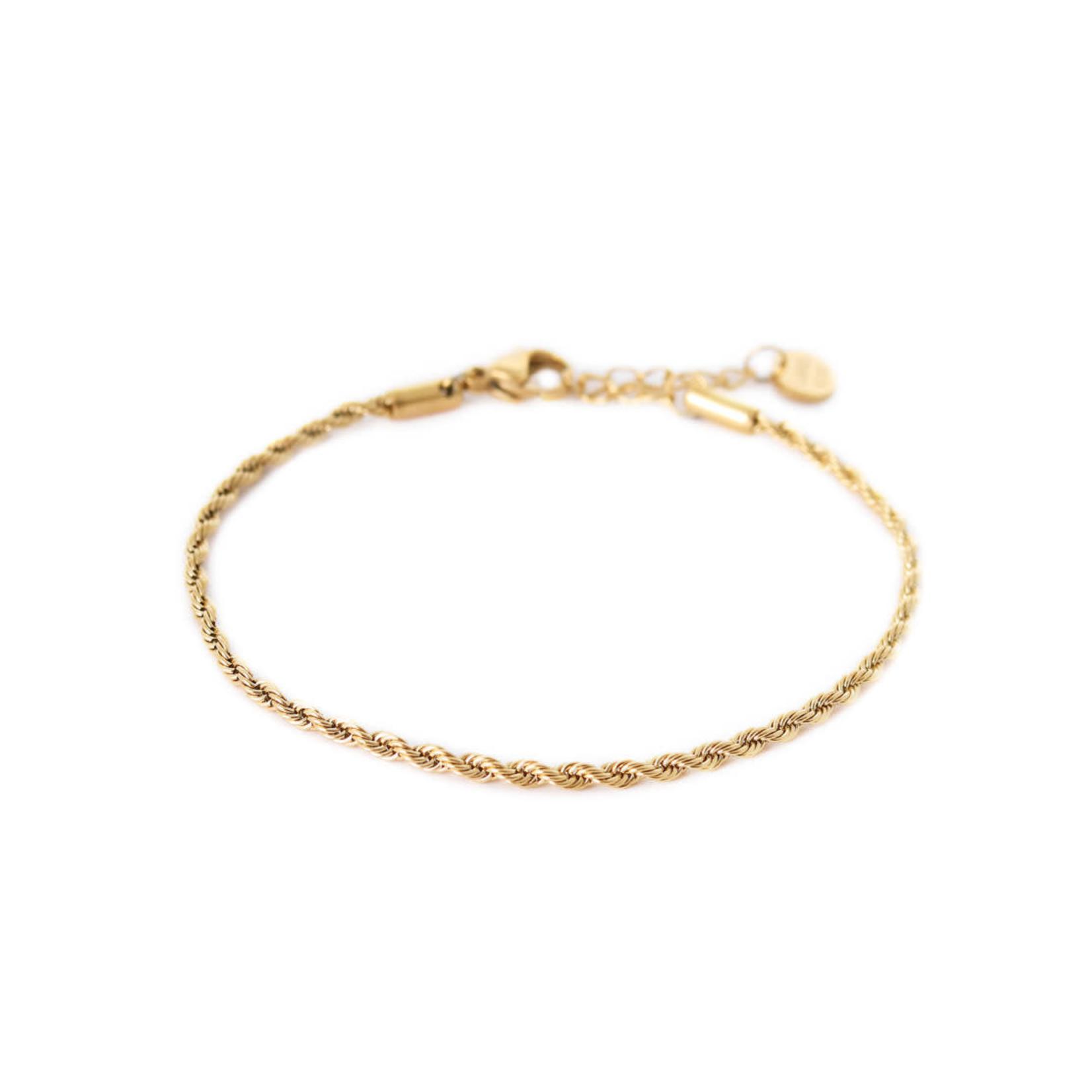 label Kiki Twisted rope Gold