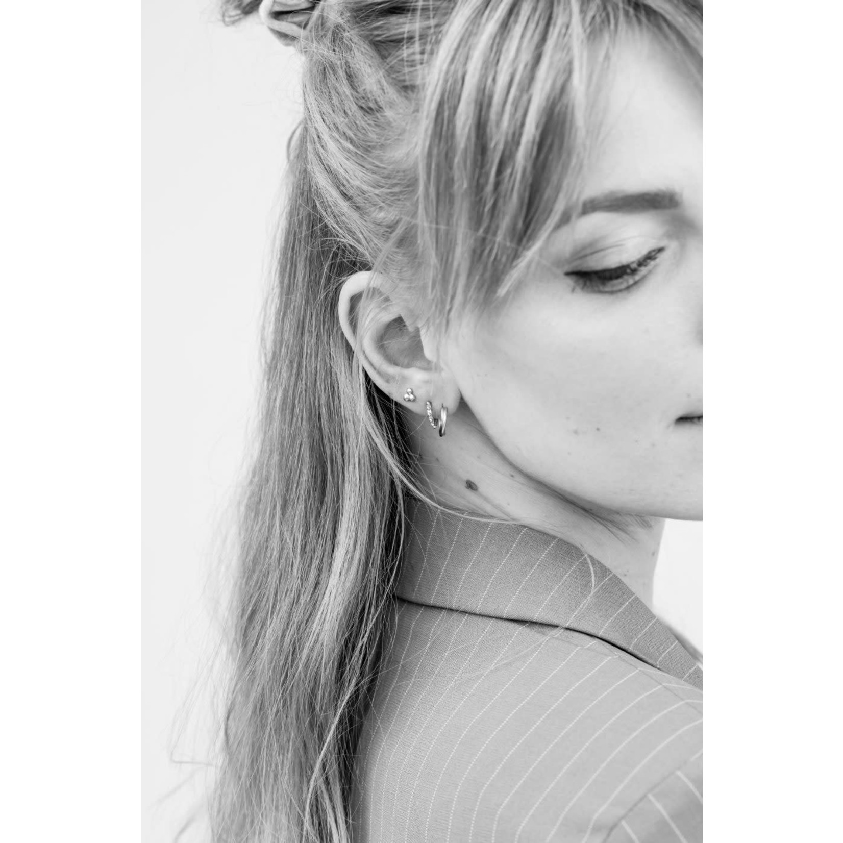 label Kiki double twisted hoops Silver