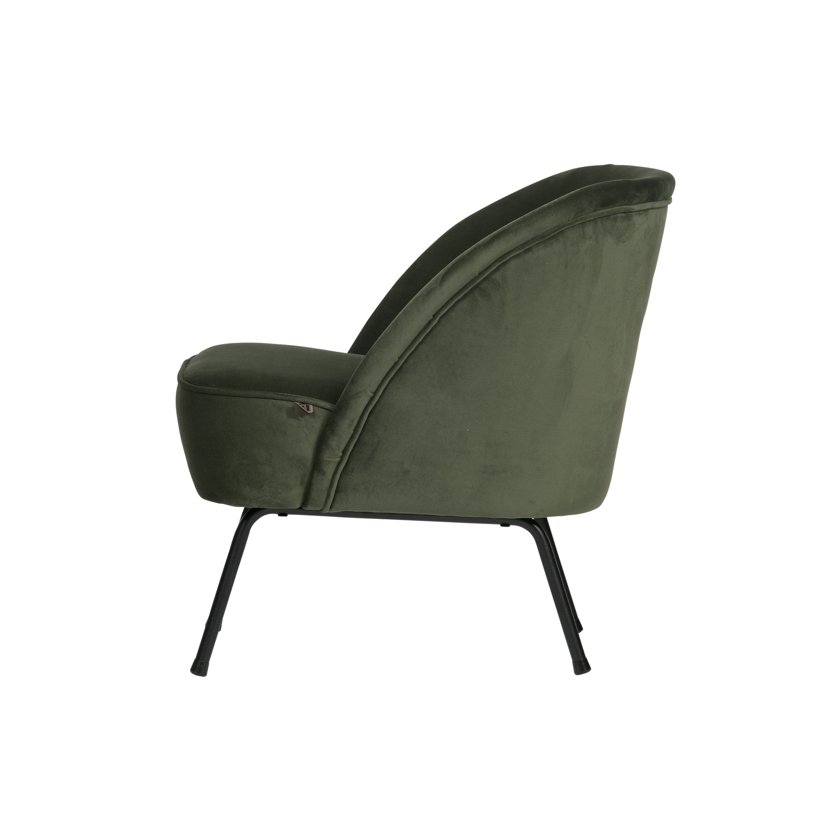 Be Pure Home Vogue Fauteuil Fluweel Onyx