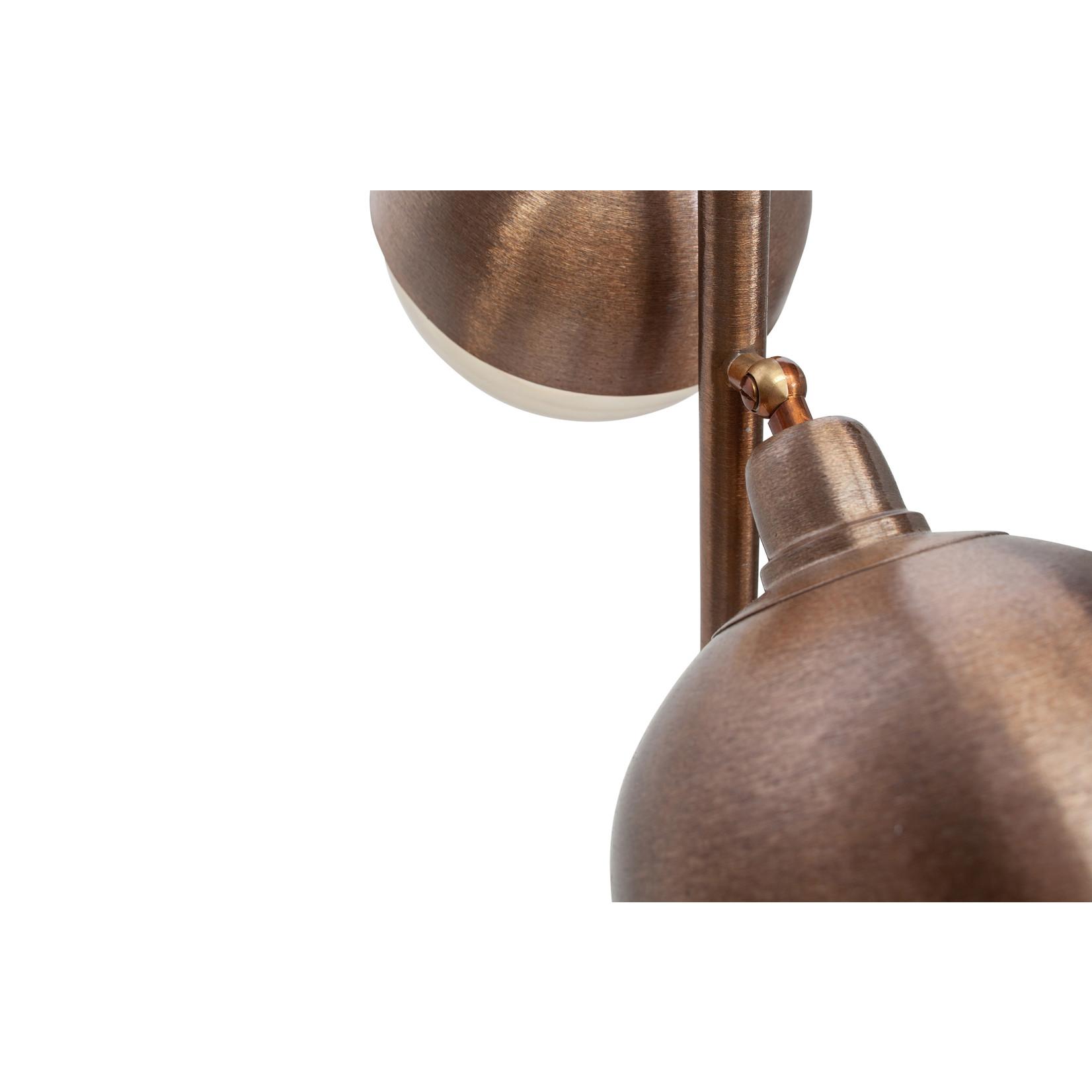 Be Pure Home Split Staande Lamp Metaal Brown Brush