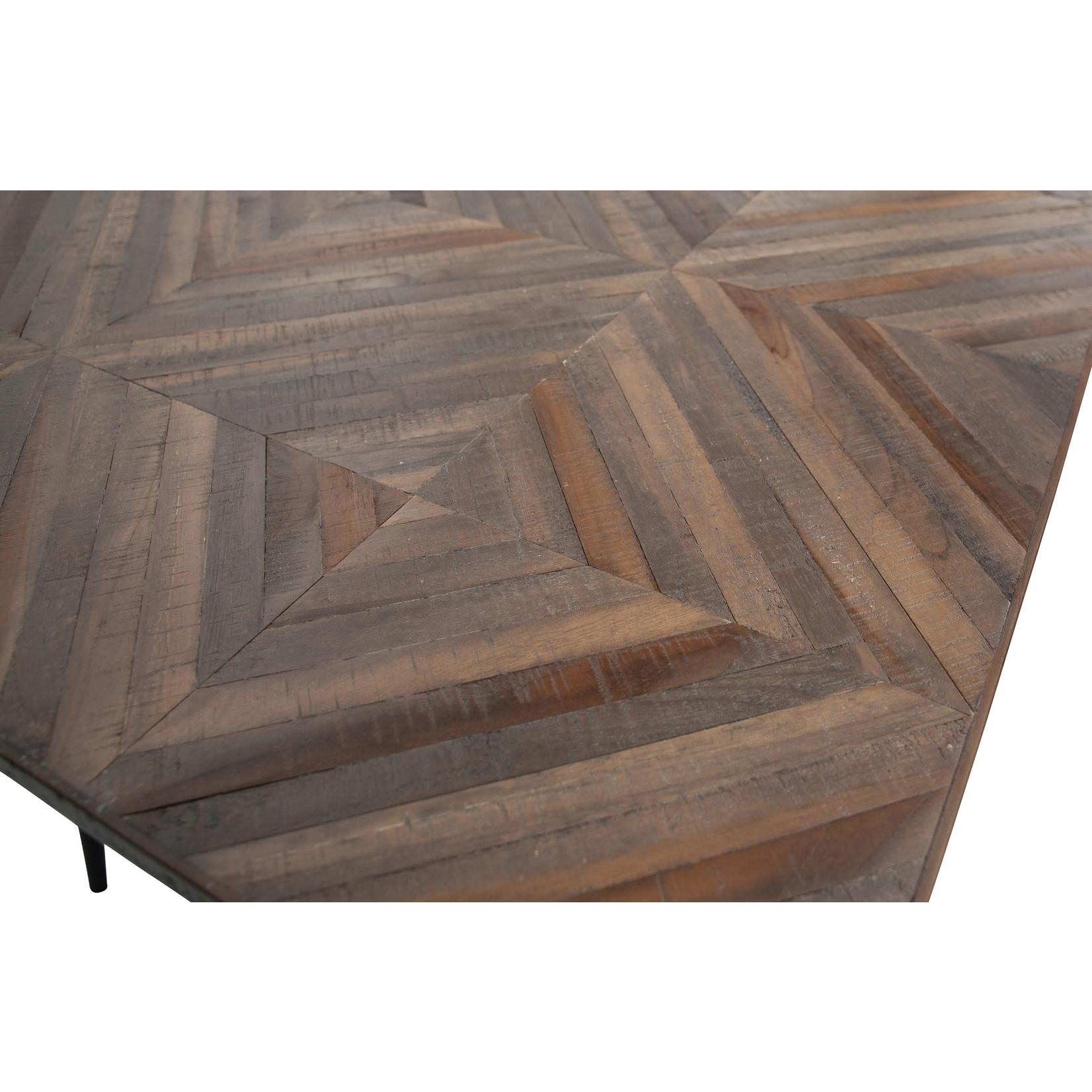 Be Pure Home Rhombic Eettafel 180x90cm Hout/metaal