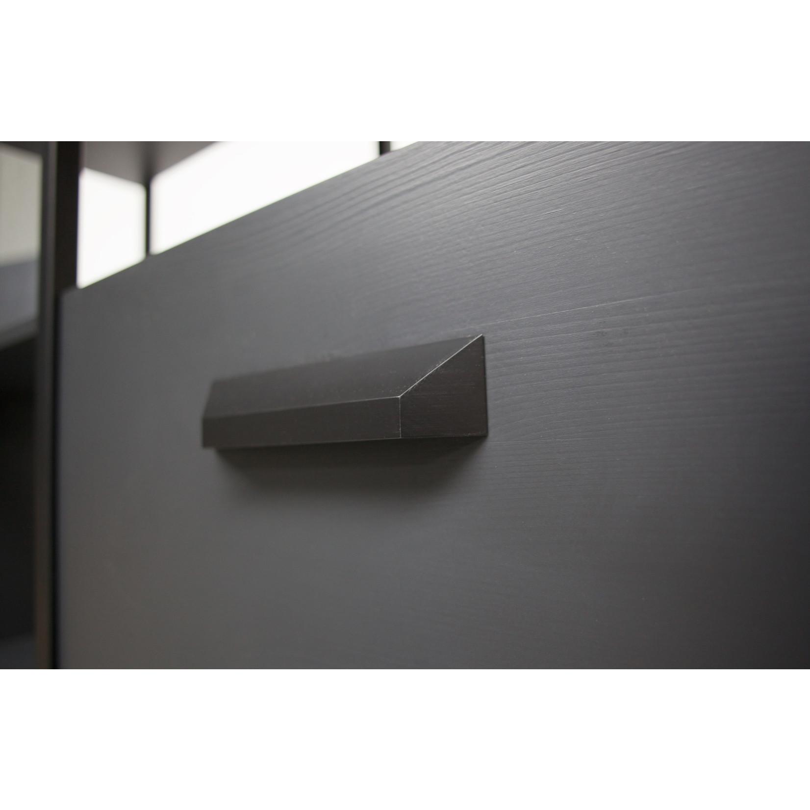 Be Pure Home Legacy Vakkenkast Hout/metaal Matzwart [fsc]