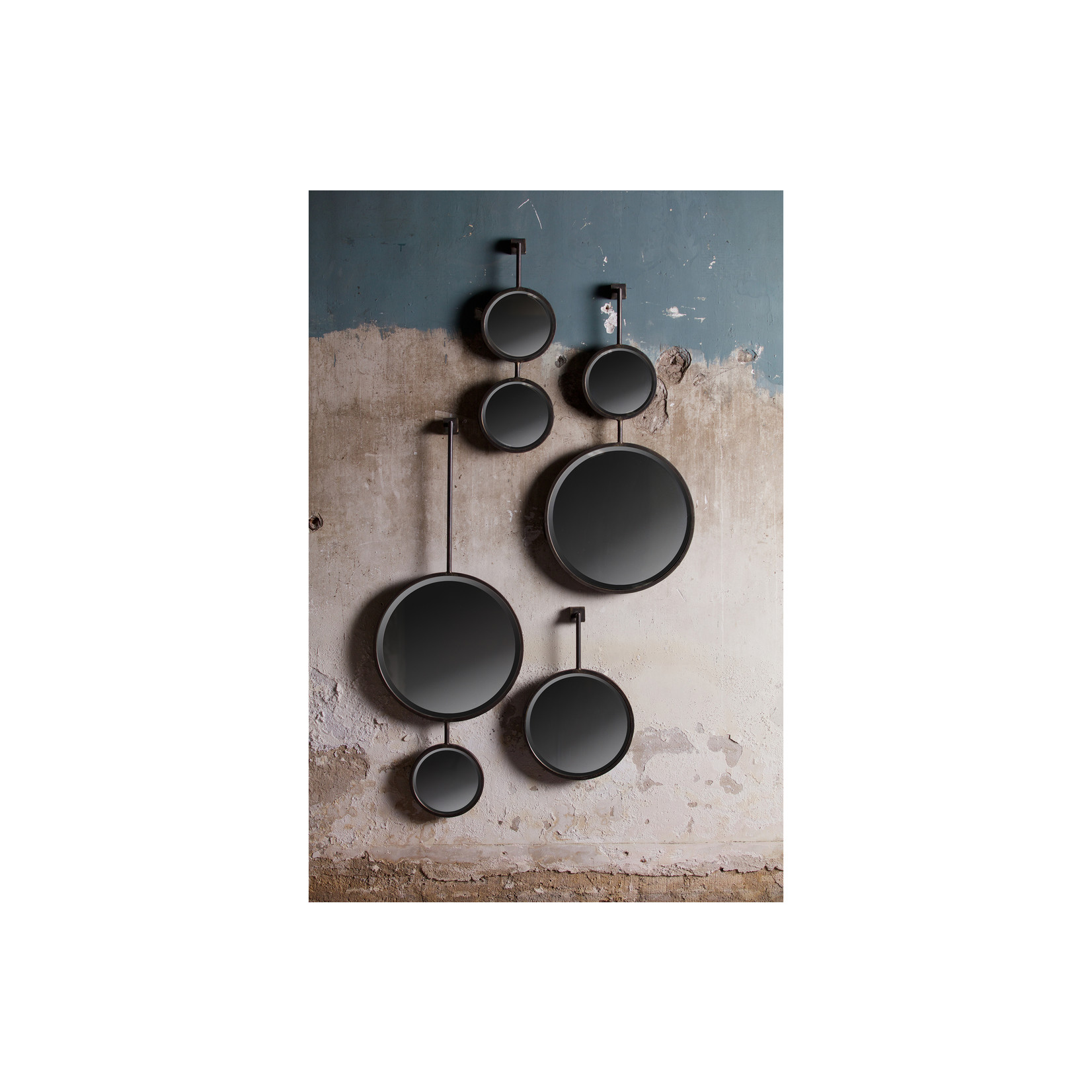 Be Pure Home Chain Dubbele Spiegel Antique Zwart Medium