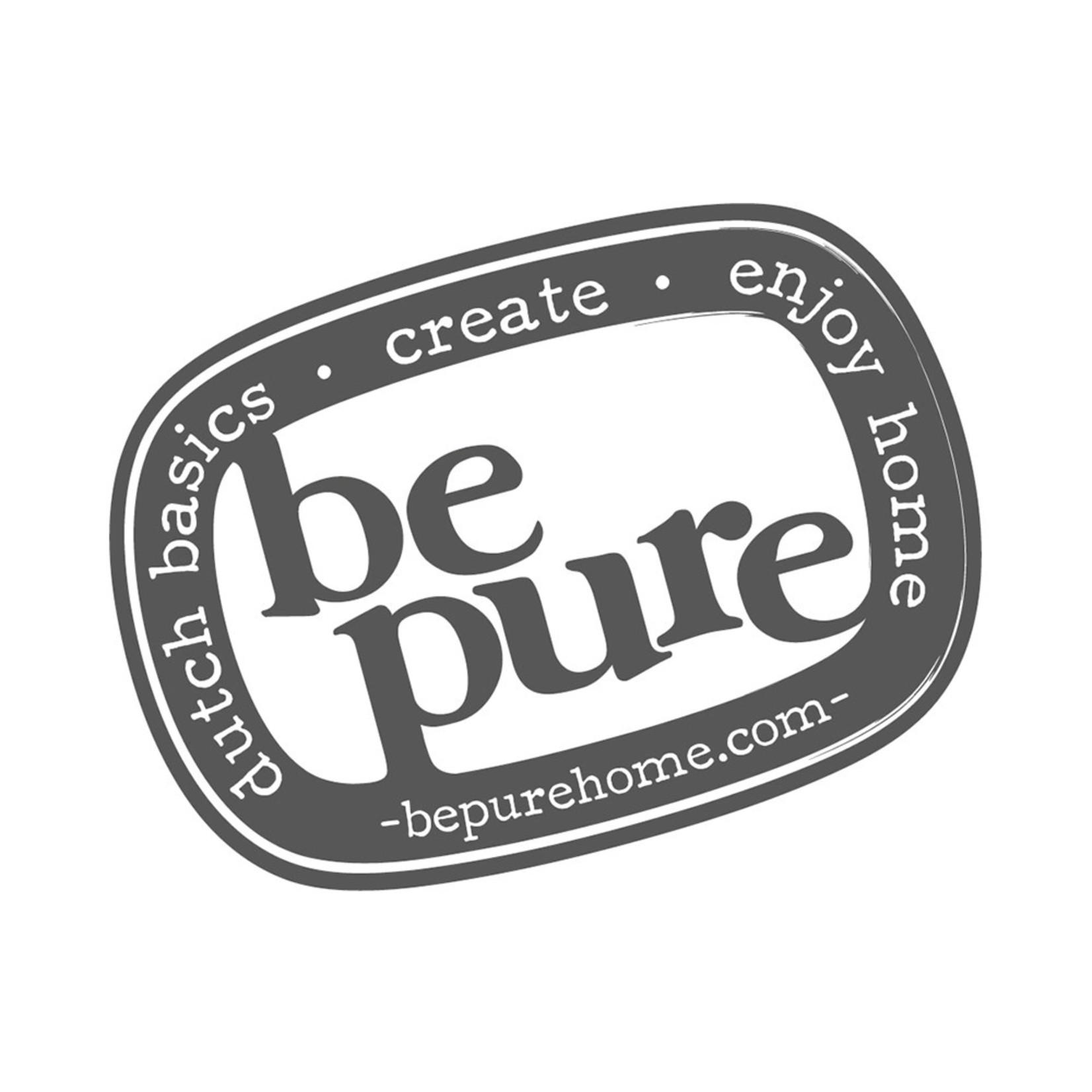 Be Pure Home BePureHome Statement Hoekbank Links Eco Leer Grijs