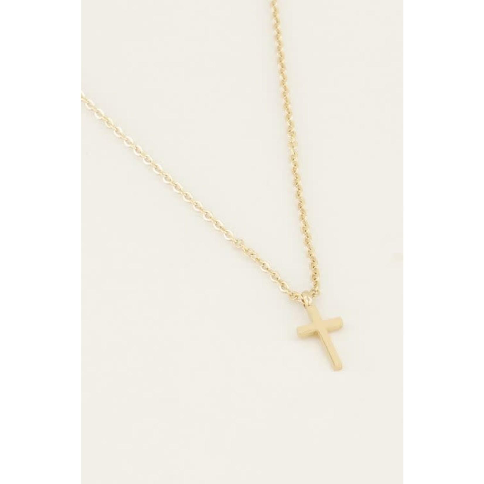 My Jewellery My jewellery Ketting klein kruisje goud