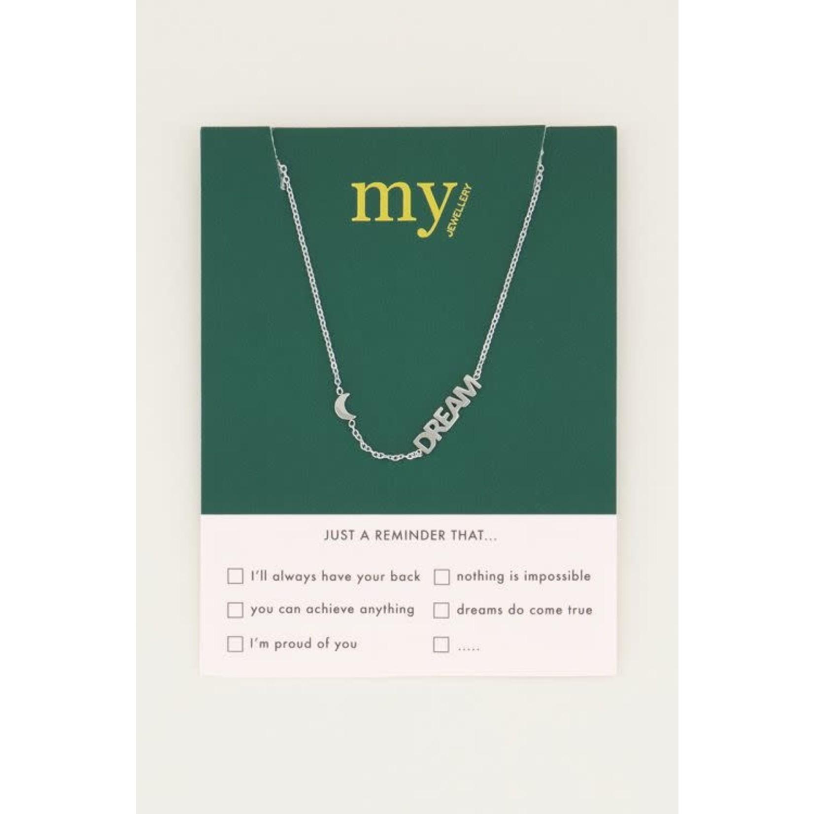 My Jewellery My Jewellery Ketting met maantje en dream Zilver